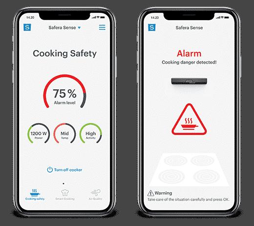 Safera-mobiilisovellus tarjoaa helpon tavan seurata lieden käytön turvallisuutta, vaikka et olisikaan kotona.